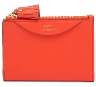Anya Hindmarch Double Zip Leather Wallet - Womens - Red