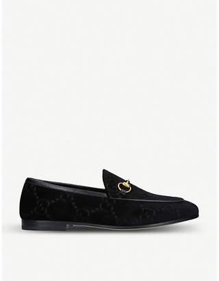 Gucci New Jordaan jacquard velvet loafers