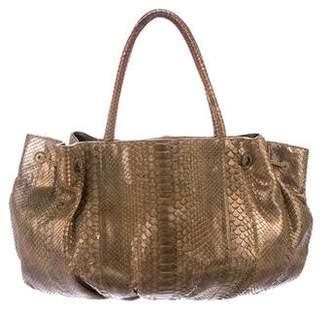 Carlos Falchi Fatto a Mano by Metallic Python Satchel