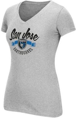 MLS San Jose Earthquakes Womens Arch Scarf Short Sleeve Tee
