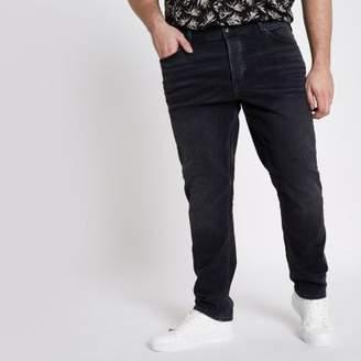 River Island Mens Big and Tall black Sid skinny jeans