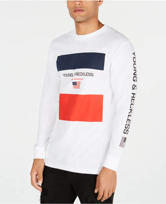 Young & Reckless Men's Long-Sleeve Logo Print T-Shirt