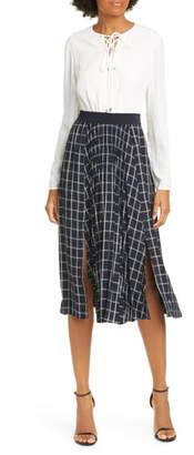 Ted Baker Fancesa Check Skirt Midi Dress