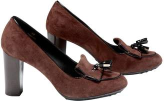 Tod's Brown Suede Flats