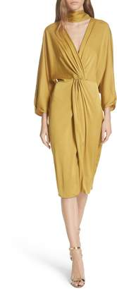 Diane von Furstenberg Twist Front Faux Wrap Dress