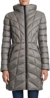 Bernardo Quilted Hooded Jacket