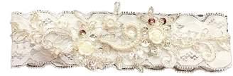 Keepsake Yiweir Wedding Bridal Ivory Lace Garter Set Toss Tradition Vintage