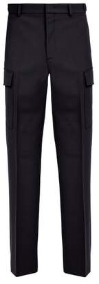 Stella McCartney Buckled Waist Wool Cargo Trousers - Mens - Navy