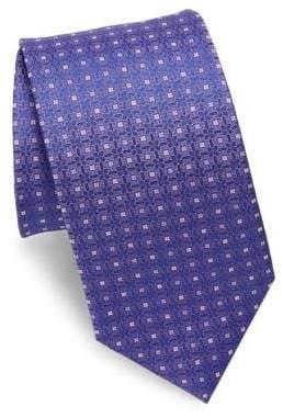 Eton Lilac Woven Medallion Silk Tie