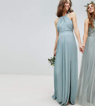 TFNC Tall Pleated Maxi Bridesmaid Dress