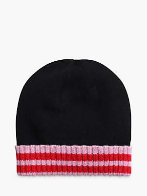 Hush Merino Rich Beanie Hat, Black/Multi