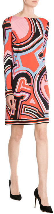 Emilio Pucci Emilio Pucci Printed Dress with Silk