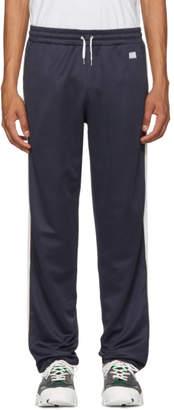 Ami Alexandre Mattiussi Navy Striped Sweatpants