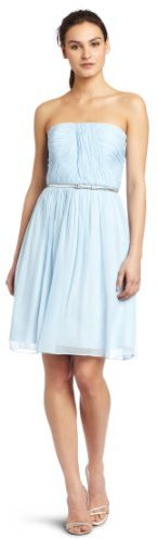 Donna Morgan Womens Strapless Chiffon Dress