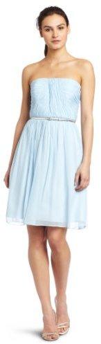 Donna Morgan Womens Strapless Chiffon Dress