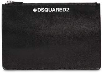 DSQUARED2 Printed Saffiano Leather Small Pouch