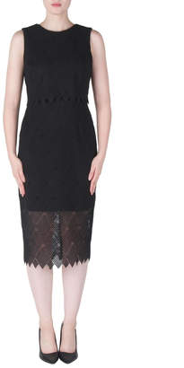 Joseph Ribkoff Tiered Crochet Dress
