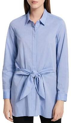 Calvin Klein Tie-Waist Button-Front Shirt