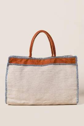 francesca's Large Naomi Tote in Ivory - Ivory