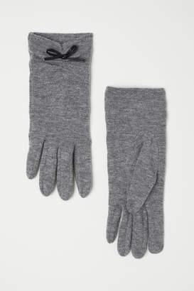 H&M Wool-blend Gloves - Gray
