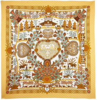 Hermes Plissé Silk Silk Handkerchief