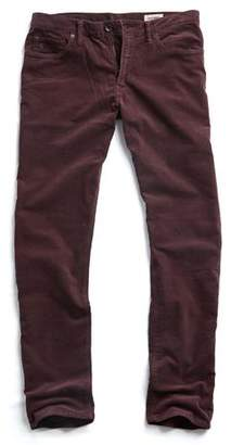 Todd Snyder 5-Pocket Stretch Italian Cord in Aubergine