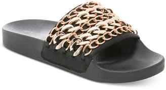 Steve Madden Women's Chains Pool Slide Sandals $59 thestylecure.com