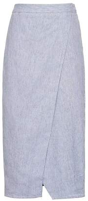 Banana Republic Petite Linen-Cotton Wrap Skirt