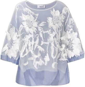 Aviu floral applique blouse