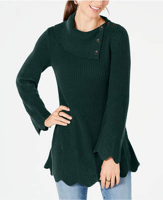 Style&Co. Style & Co Scallop-Edge Sweater