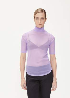Nomia Short Sleeve Mesh Turtleneck