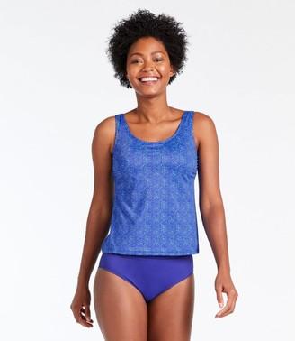 L.L. Bean L.L.Bean Women's BeanSport Swimwear, Tankini Top, Scoopneck Shell Print
