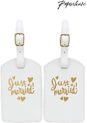 Next Womens Paperchase Wedding Luggage Tag Set