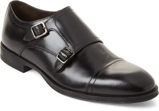 Bruno Magli Black Zenda Leather Monk Strap Shoes