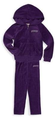 Juicy Couture Little Girl's Two-Piece Velour Sweatsuit
