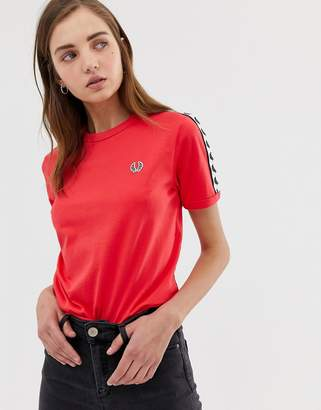 Fred Perry logo tape ringer t-shirt
