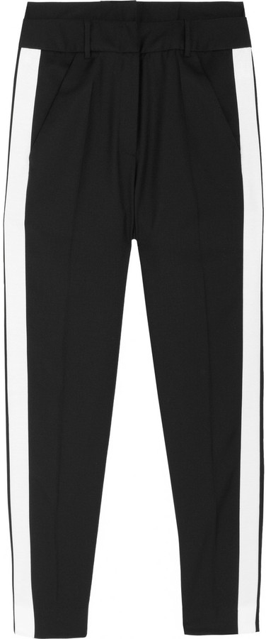 Karl Lagerfeld Palma contrast-trimmed wool-blend pants