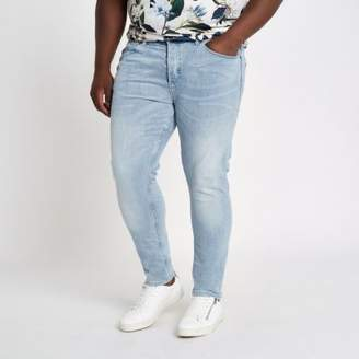 River Island Big and Tall light blue skinny jeans
