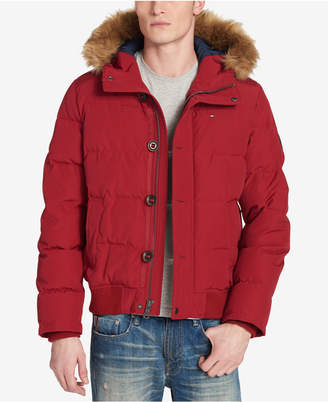 Tommy Hilfiger Men Big & Tall Parka with Faux-Fur Trimmed Hood
