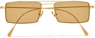 Cutler and Gross - Square-frame Gold-tone Sunglasses - Brown