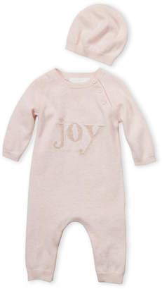 Petit Lem Firsts By Newborn Girls) Two-Piece Joy Coveralls & Hat Set