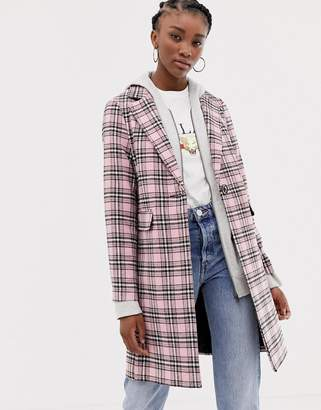 New Look Check Coat