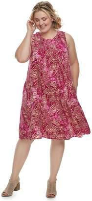 Sonoma Goods For Life Plus Size SONOMA Goods for Life Pintuck Challis Shift Dress