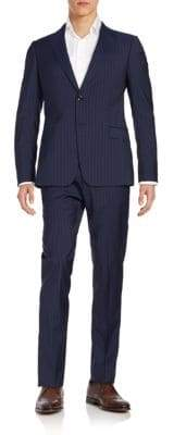 Armani Collezioni Two-Button Striped Wool Suit