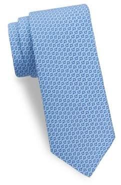 Saks Fifth Avenue Horse Bit Silk Tie