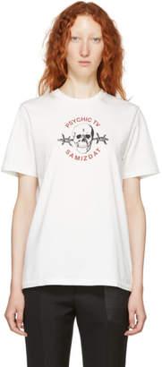 Yang Li SSENSE Exclusive White Samizdat Skull T-Shirt