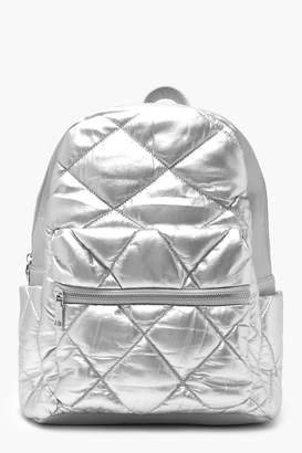boohoo Puffy Quilted Rucksack