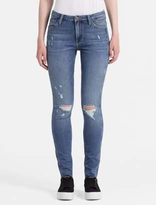 Calvin Klein sculpted mid blue vintage skinny jeans