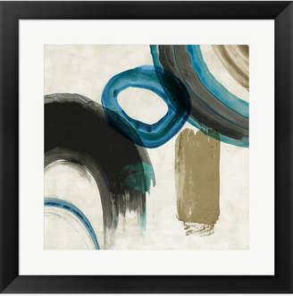 Pi Metaverse Blue Ring Ii By Galerie Framed Art