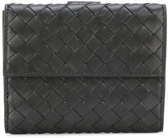 Bottega Veneta nero Intrecciato nappa mini wallet